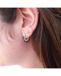 Etsy Ruby Zoisite Hoop Earrings - Metallic