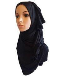 Etsy Jersey High Quality Beautiful Maxi Hijab Scarf Shawl Abaya - Black
