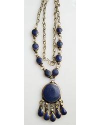 Etsy Afghan Lapis Necklace - Blue