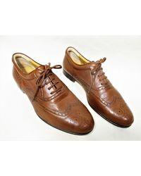 Etsy Vintage Brun Tout Cuir Plein Brogue Wingtip Chaussures Oxford Pour s - Marron