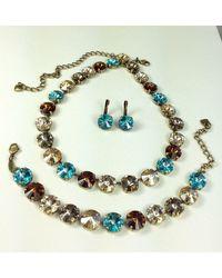 Etsy Swarovski Crystal 12mm Necklace/bracelet - Metallic
