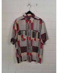 Etsy Vintage Crazy Motif Chemise En Soie Seiden Hemd Manches Courtes 80S 90S - Neutre