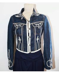 Etsy Very Rare Jean Paul Gaultier Vintage Embroidered Denim Jacket - Bleu