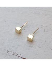 Etsy Cube Earrings - Metallic