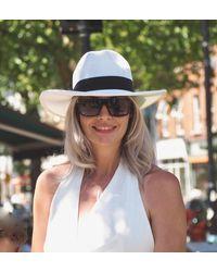 Etsy Adeline Straw Fedora - White