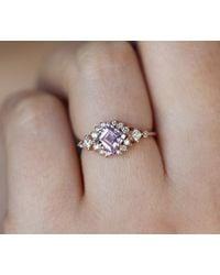 Etsy Princess Amethyst Engagement Ring - White