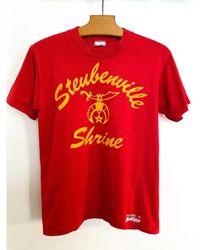 Etsy T-Shirt Rouge Vintage Des Années 90/T-Shirt 50 En Polyester De Coton Logo T Shirt Jaune Et Top Xs S