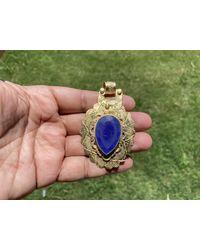 Etsy Afghan Lapis Lazuli Pendant - Metallic