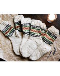 Etsy Chaussettes /Chaussettes Tricotées/Chaussettes En Laine Tricot/Chaussettes Tricotées À La Main/Chaussettes Pour Dames/Ch... - Blanc