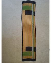 Etsy Vintage Long Narrow Silk Scarf - Orange