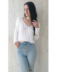 Etsy Summer Cropped Jumper Hand Knit Cotton Jumpe - White