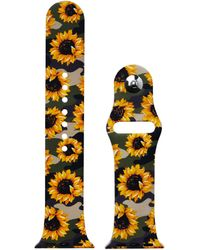Etsy Camo Sunflower Pattern Print Silicone Band - Yellow