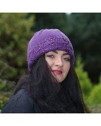 Etsy Hat Slouchy - Purple