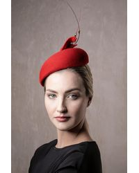 Etsy Red Fascinator Hat