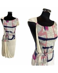 Etsy Taille S | Christian Dior - Robe Soie Des Années 00 - Multicolore