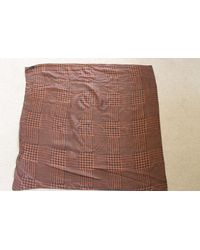 Etsy 1960's French Ladies Hounds Tooth Check Silk Scarf - Brown