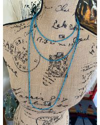 Etsy Three Strand Afghan Turquoise Necklaces - Blue
