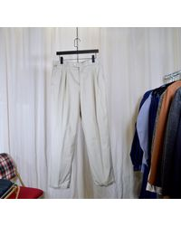 Etsy Pantalon Chino À Pinces Lacoste/Toile Légère - Bleu