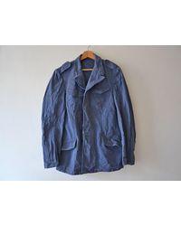Etsy Veste Bleu De Travail Vintage/Veste Militaire Allemande Ou Suisse Année 60