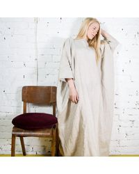Etsy Robe Maxi En Lin Tiana/Linen Kaftan /Plus - Blanc