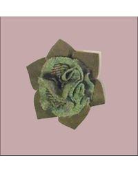 Etsy Floral Tweed Brooch - Black