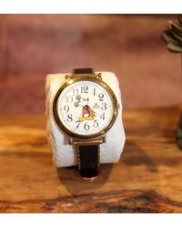 Etsy Vintage Lorus Mickey Mouse Watch V515-6000 Large 30mm Gold Plated Case - Metallic