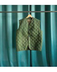 Etsy Gilet Vintage Matelassé Sans Manche De L'armée Anglaise - Vert