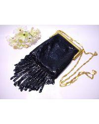 Etsy Whiting Davis Mesh Black Flapper Style Cross Body Purse Evening Bag