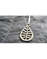 Etsy - Leafy Pendant In Stainless Steel - Lyst