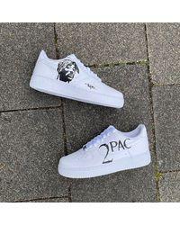 Etsy Tupac Design Nike Air Force 1 - Blanc