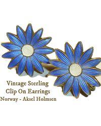 Etsy Vintage Norway Sterling Brooch - White