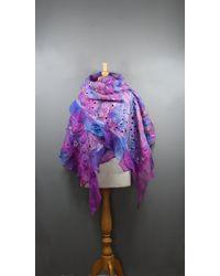 Etsy Silk Shawl - Purple
