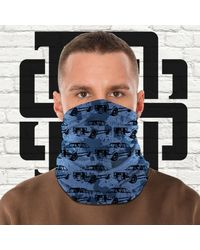 Etsy Face Mask Mk2 Rs Retro Car Ppe Tubular Bandana Petrol Head Cover Neck Warmer Snood Scarf Multi Purpose Use Wrap Gift Present - Blue