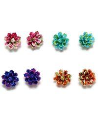 Etsy Resin Flower Studs - Multicolor