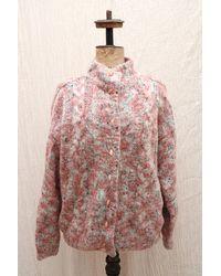Etsy Vintage Moelleux Pastel Rose Mohair Laine Tricotée Cardigan Manteau/Boho Hippie Tricot De Veste
