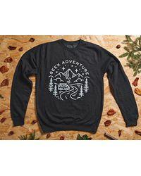 Etsy Travel Gifts // Jumper Adventure Clothing Wanderlust Gift Charcoal Sweatshirt - White
