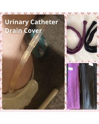 Etsy Urinary Catheter Leg Drain Tube Fleece Cover Measurement Required When Ordering Made To Orde - Multicolour