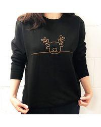 Etsy Reindeer Christmas Jumper - Black