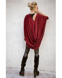 Etsy Dolman Sleeve Top/tunic Oversized Convertible Cardigan Plus - Black