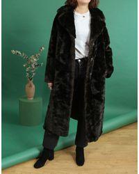 Etsy Manteau Long En Fausse Fourrure/Fausse Marron Long Manteau Vintage