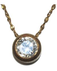 Etsy - Vintage Avon Gold Tone & Clear Crystal Pendant On 18 Inch Chain With Lobster Claw Clasp - Lyst