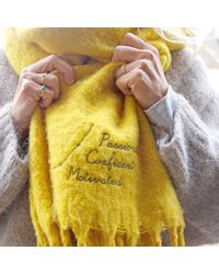 Etsy Personalised Embroidered Constellation Recycled Oversized Scarf