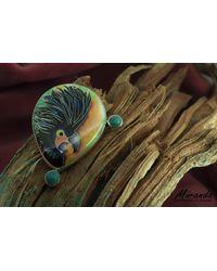 Etsy Cloisonne Enamel Brooch-pendant - Metallic