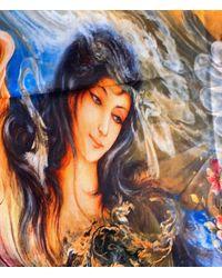 Etsy Persian Style Farchian Artwork Farsi Bohemian Shawl Scarf New Stock Safavid Nizami Muraqqa - Multicolour