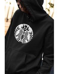 Etsy Skeleton Starbucks Hoodie - Black