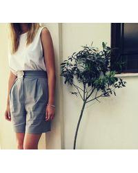 Etsy Short Celia/Short Plissé Pantalon Large Pour Jambes Dm Les Couleurs - Blanc
