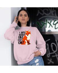 Etsy I Just Really Like Foxes Ok Sweatshirt - White
