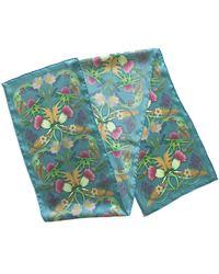 Etsy Scottish Thistle Blue Silk Scarf William Morris Inspired Wedding Floral Long