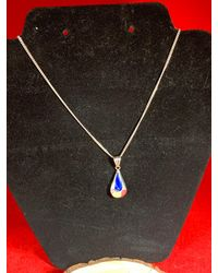 Etsy Reversible Sterling Silver Pendant Necklace With Green Tiger Eye & Blue Lapis
