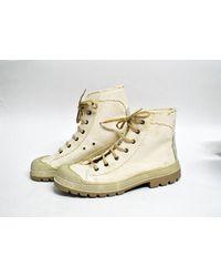 Etsy Beige Ecru Chunky Baskets Vintage Chaussures De Travail Chaussures Randonnée - Neutre